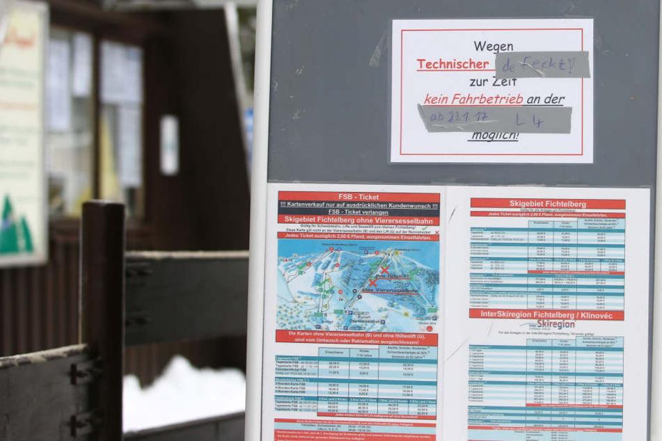 Bereits seit Sonntag ist der Betrieb der Himmelsleiter eingestellt.
