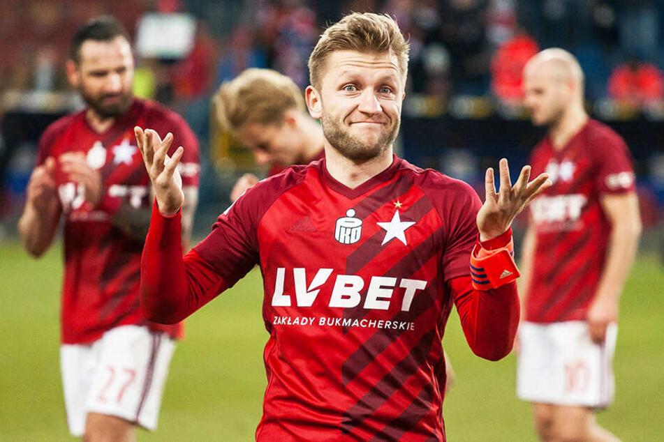 Tja, so einfach ist es manchmal! Jakub Balszczykowski traf beim Kantersieg seiner Mannschaft Wisla Krakau einmal und bereitete ein weiteres Tor vor.