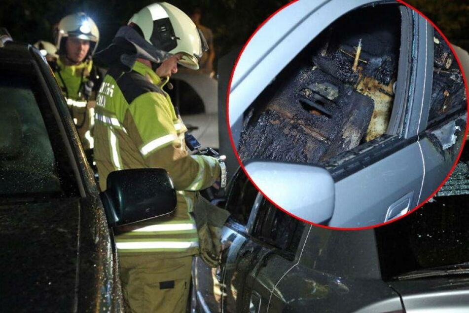 Autoknacker legen Feuer! Opel brennt komplett aus