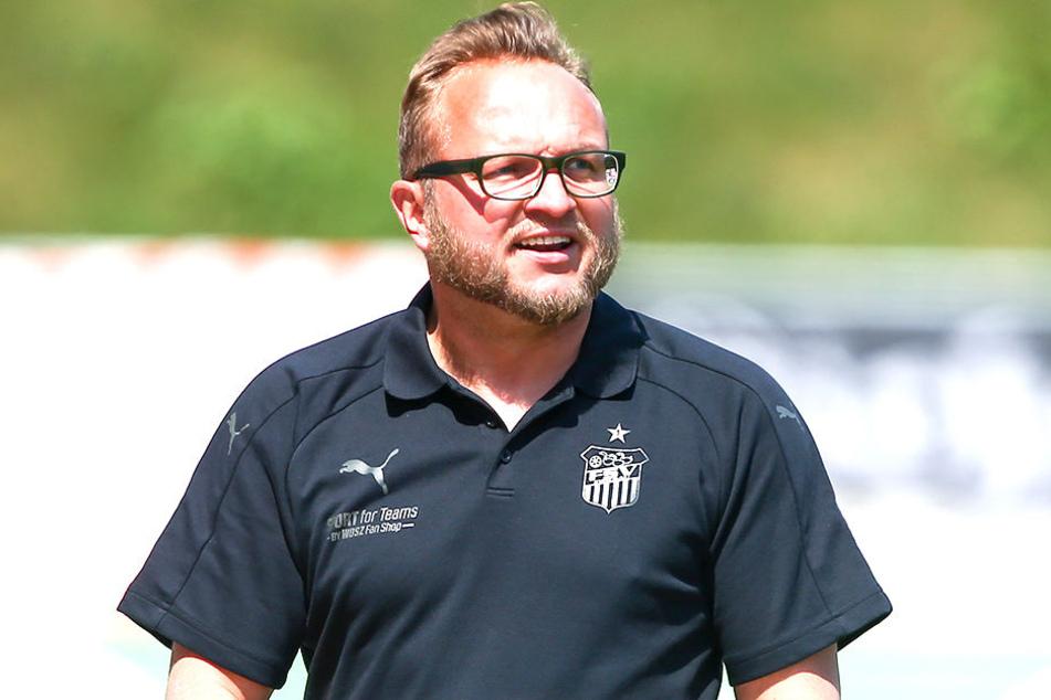 Danny König führt interimsweise die Trainergeschicke beim FSV Zwickau.