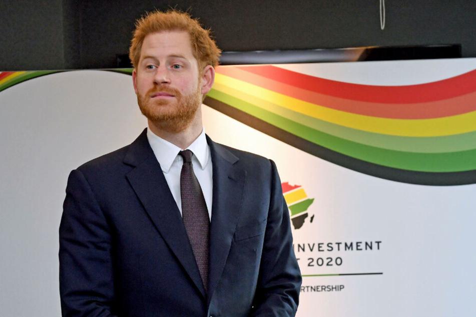 """Prinz Harry beim eintägigen Afrika-Gipfel """"UK-Africa Investment Summit 2020"""" in London."""