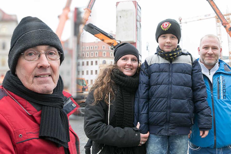 Links: Detlef Kosel. | Rechts: Sandra, Philipp und Stefan Meschle.