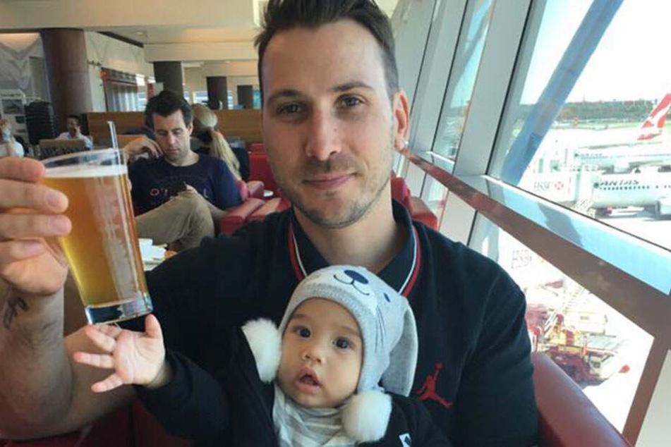 Joanne Peters zweijähriger Sohn Ami mit Mann Fabian.