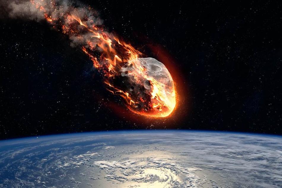 Der Einschlag eines Asteroiden könnte die Menschheit bedrohen (Symbolbild).