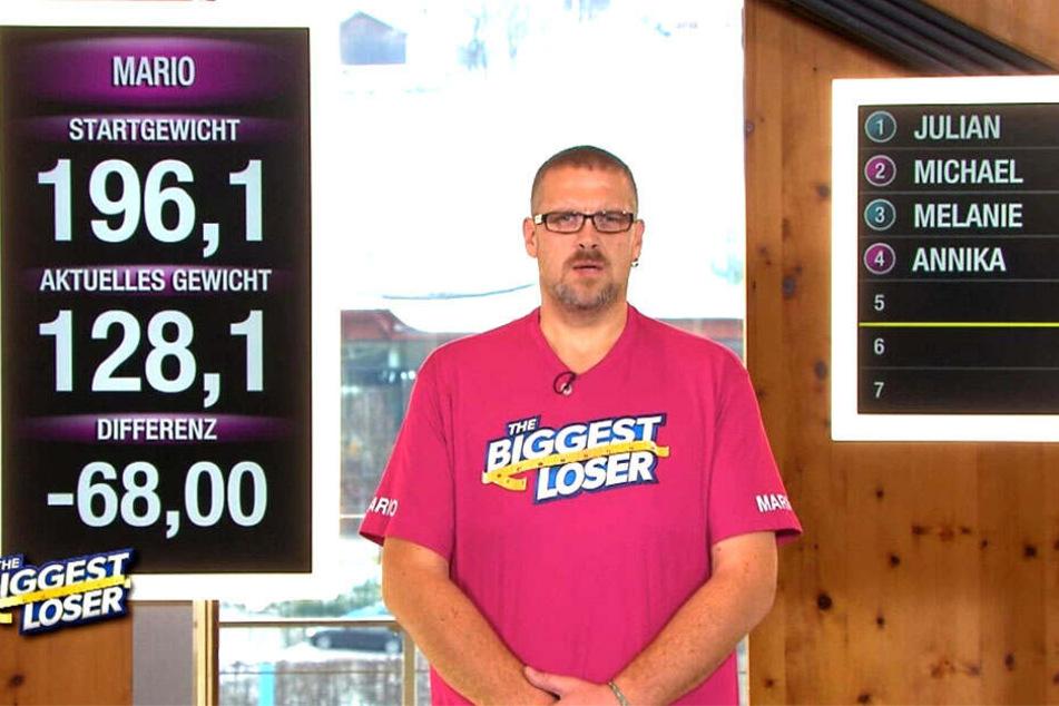 Mittlerweile sind es weit mehr als 70 Kilo: Mario (39) hat quasi einen ganzen Menschen abgenommen