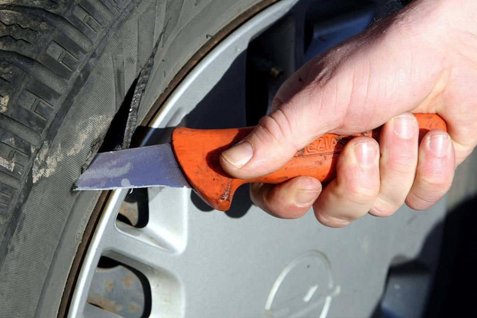 Schon wieder machten unbekannte Täter mehrere Reifen platt (Symbolbild).