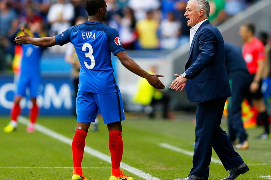 Didier Deschamps vertraute auch als Trainer der französischen Nationalmannschaft bei der Europameisterschaft 2016 auf seinen Außenverteidiger Patrice Evra.