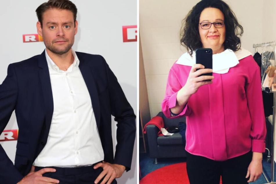 Max Giermann als Max Giermann (li.) und Max Giermann als Andrea Nahles (re.).