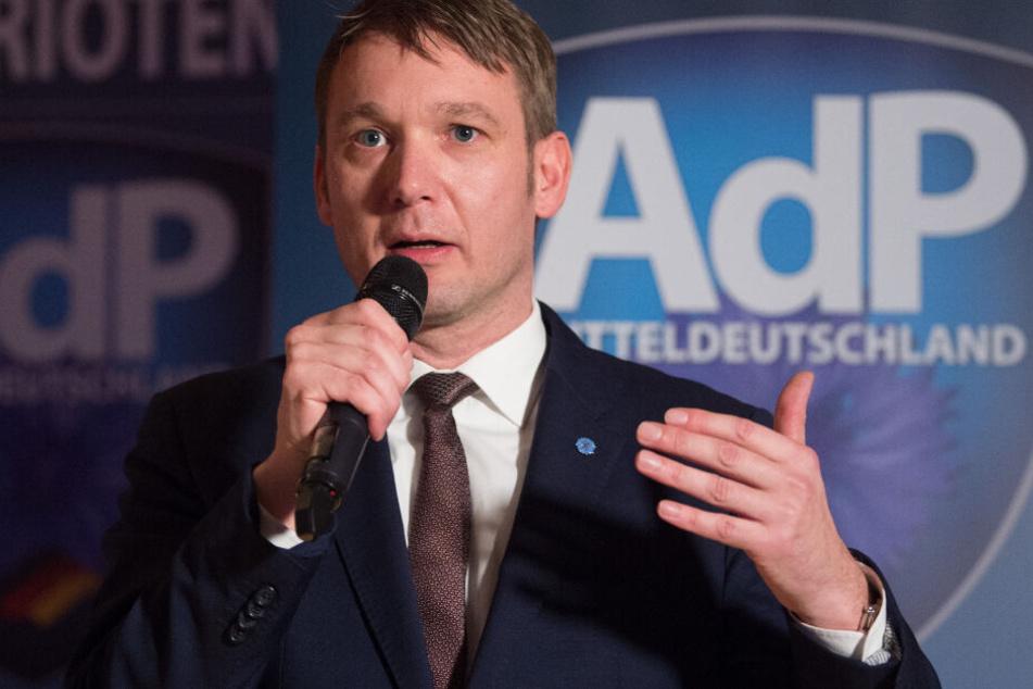 """Der Chef der Partei """"Aufbruch deutscher Patrioten"""" kündigte erneut eine Veranstaltung in Leipzig-Connewitz an."""