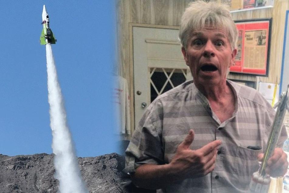 Mann fliegt mit selbstgebauter Rakete 570 Meter hoch: Sein Grund ist völlig absurd