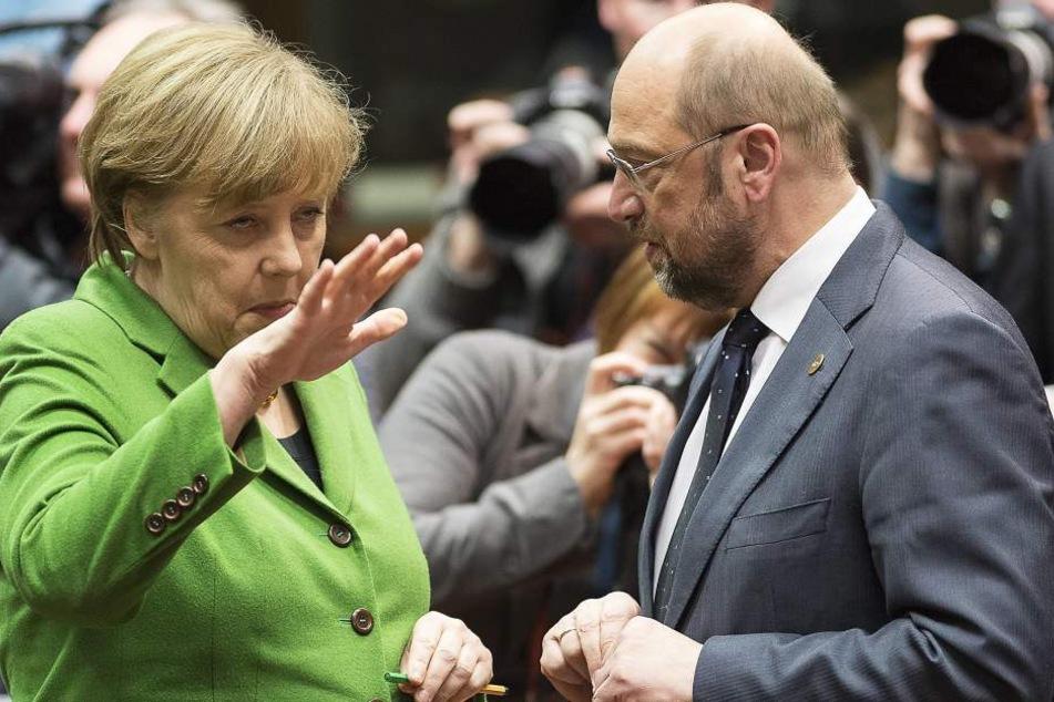 Bundeskanzlerin Angela Merkel und Martin Schulz in Brüssel 2013.