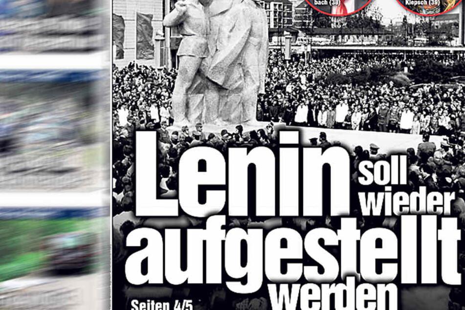 Diskussionen um Lenin in Dresden.