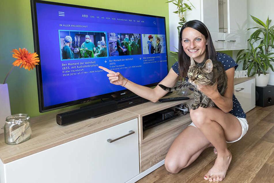 """Franziska Görner (30) schafft heute den Sprung vor die Kamera: Bei """"In aller Freundschaft"""" darf sie eine Komparsin sein."""
