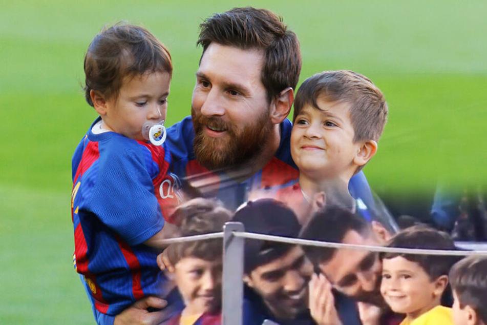 Beim Spiel des FC Barcelona: Messi-Sohn mit diesem niedlichem Fauxpas!