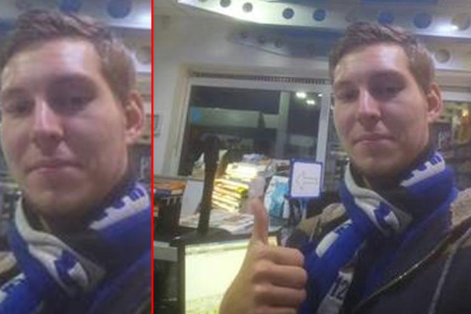 Tim Bleck-Seewald (22) ist seit Samstag vermisst. Er trug einen Arminia Bielefeld Fan-Schal.