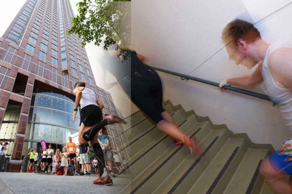 Wahnsinn! 1202 Stufen treppauf in den 61. Stock in nur rund sechs Minuten