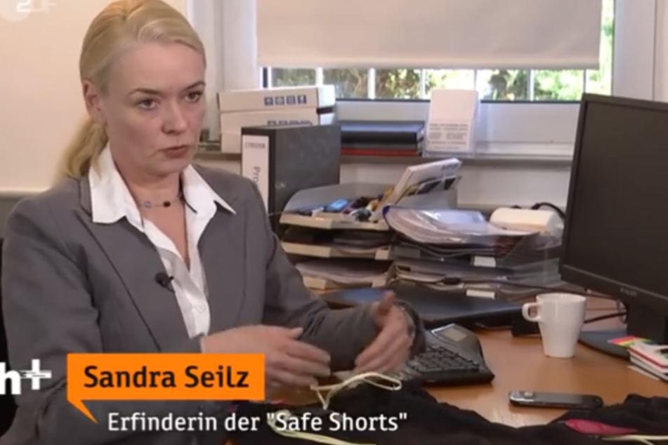 Sie erfand die Sicherheits-Schlüpfer: Sandra Seilz. Feministinnen sehen sich in ihrer Freiheit durch diese Hose allerdings beeinträchtigt.