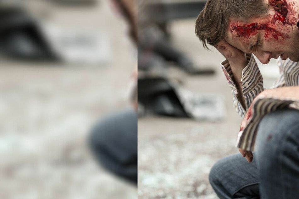 Mit einer Eisenstange verletzte der Angreifer den Fahrer am Kopf (Symbolbild).