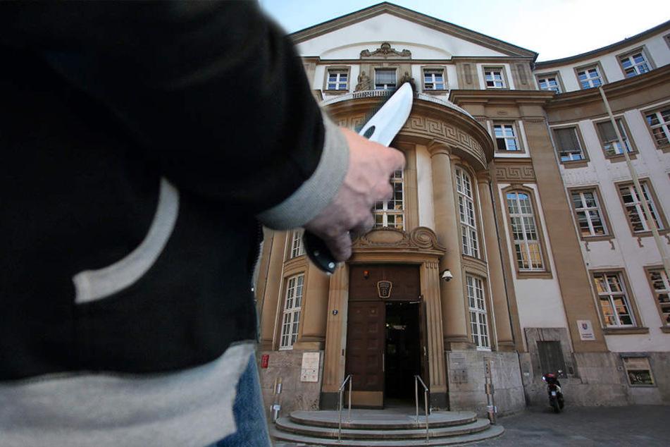 Eine Messerstecherei in Hofheim wurde heute vor dem Landgericht Frankfurt verhandelt.