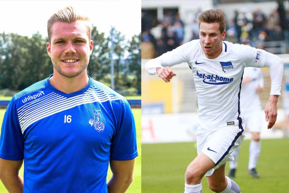 Fabio Leutenecker (27, l.) und Marcus Młynikowski (24) verstärken den Kader des CFC.