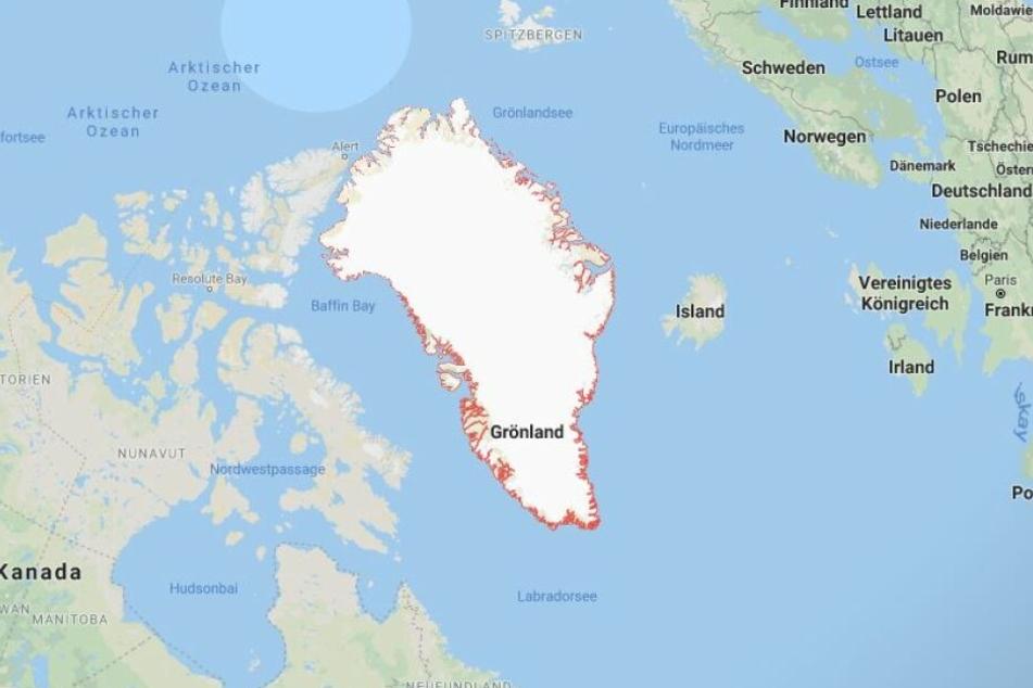 Grönland ist strategisch gut gelegen zwischen Europa und der Küste Kanadas.