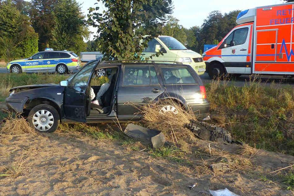 Nach dem Unfall musste die Frau (35) mit schweren Verletzungen ins Klinikum Minden gebracht werden.