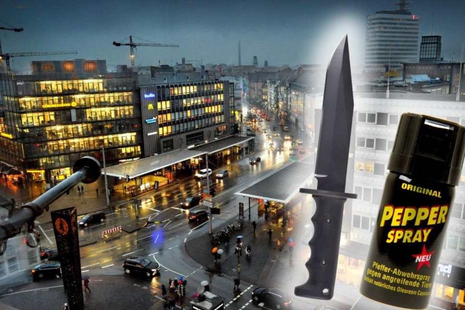 Polizei sucht Zeugen: Pfefferspray-Angriff auf dem Jahnplatz
