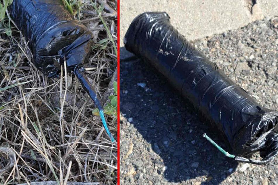 Paketdienst findet scharfe Rohrbomben und löst Polizeieinsatz aus