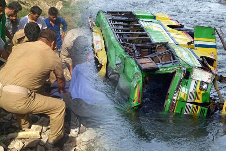 Bus stürzt 150 Meter in die Tiefe: Mindestens 20 Menschen sterben!