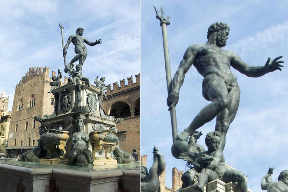 Diese nackte Neptun-Statue in Bologna war Facebook zu sexuell. Das Foto wurde gelöscht.