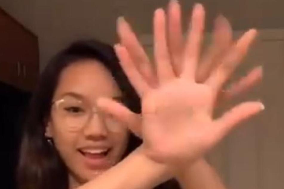 Tori Pareno (19) haut mit ihrem Hände-Trick Millionen um.
