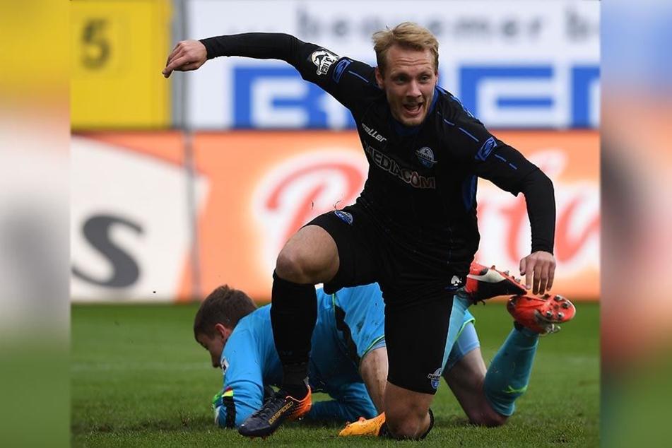 Ben Zolinski machte nach acht Minuten das 1:0 gegen die Sportfreunde Lotte.
