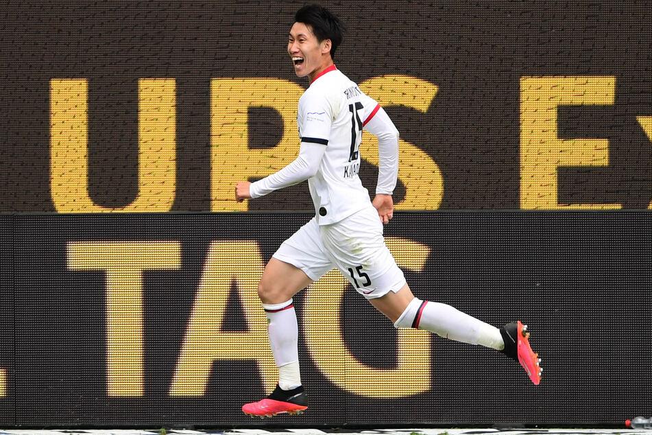 Geht Eintracht Frankfurts Überflieger Daichi Kamada (24) ab der kommenden Saison bei einem anderen Verein auf Tore- und Vorlagenjagd? (Archivfoto)