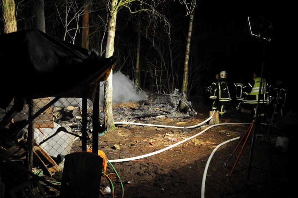 In der Wohnsiedlung am Kesselberg ist in der Nacht zu Donnerstag ein Feuer ausgebrochen.