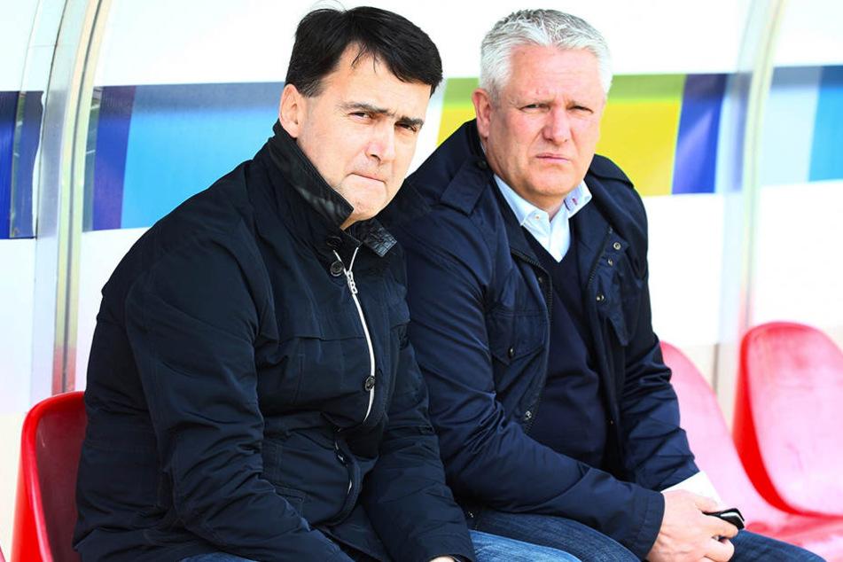 Ex-CFC-Präsident Dr. Mathias Hänel (l.) und den damaligen Sportchef Stephan Beutel verband auch ein üppig dotierter Vertrag.
