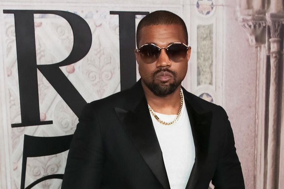 US-Rapper Kanye West bei der Ralph Lauren 50th Anniversary Fashion Show in New York.