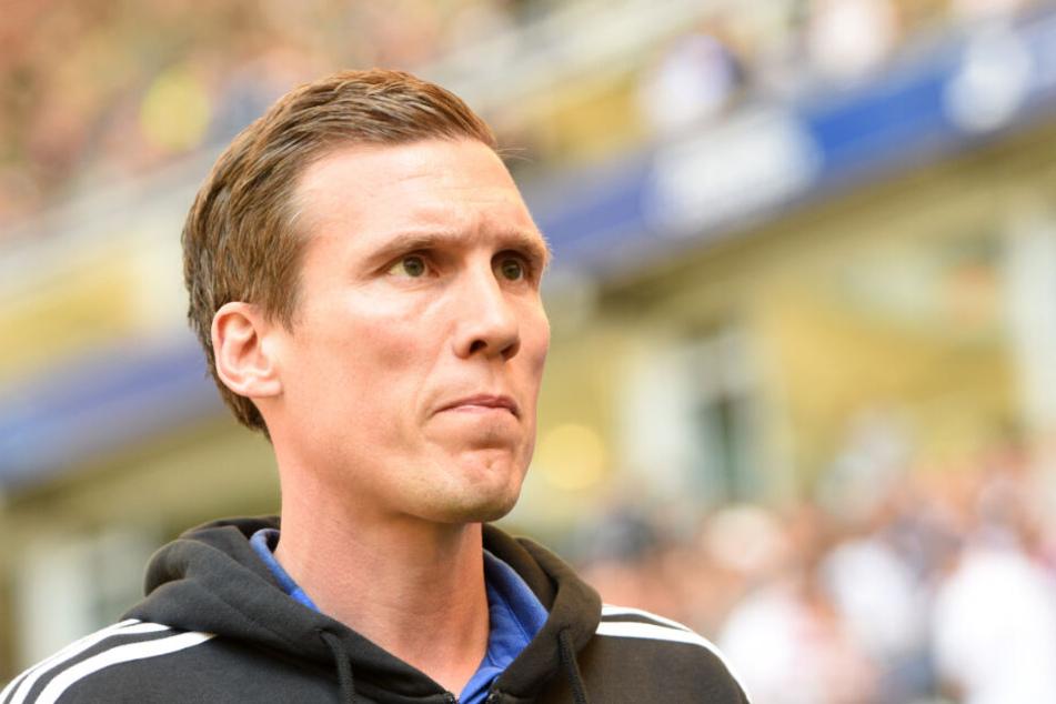 HSV-Trainer Hannes Wolf war nach dem Remis sichtlich bedient.