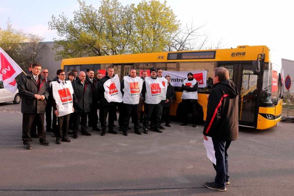 In Dresden streikte die Dresdner Verkehrsservice GmbH.