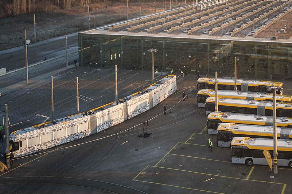 Auch neue Gelenk-Busse sollen bald die Flotte der Leipziger Verkehrsbetriebe verstärken.