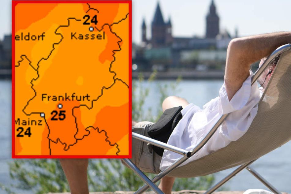 Zum Wochenende hin erwarten Hessen Temperaturen von bis zu 26 Grad (Symbolbild).