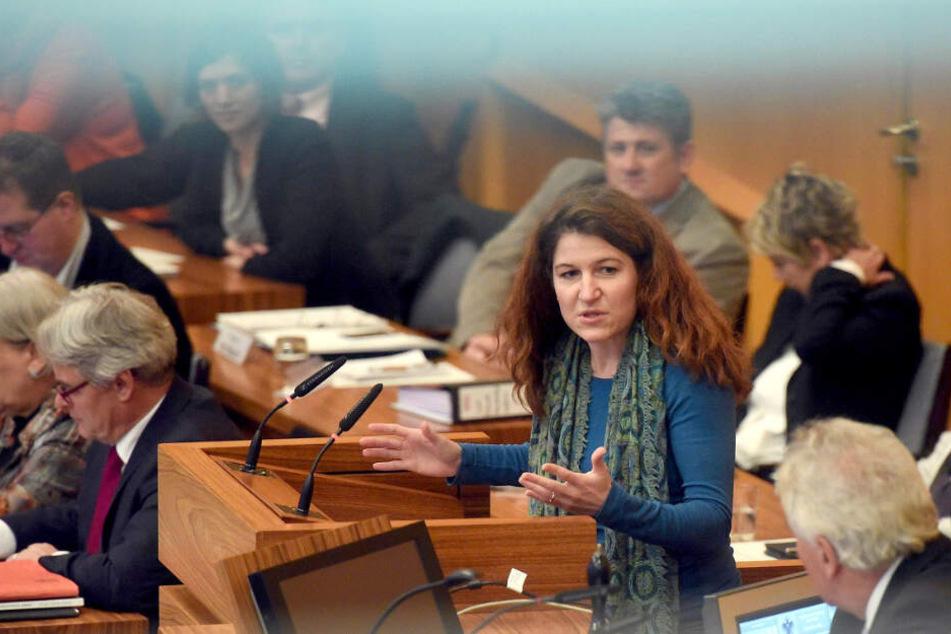 Kirsten Jahn bei einer Sitzung im Rat der Stadt Köln.