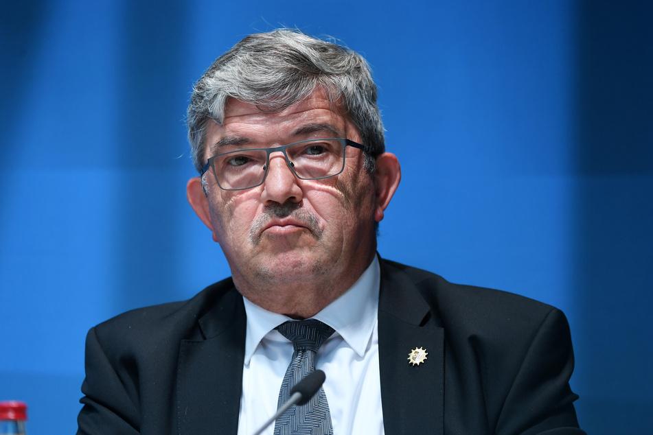 Lorenz Caffier (CDU), Innenminister von Mecklenburg-Vorpommern.