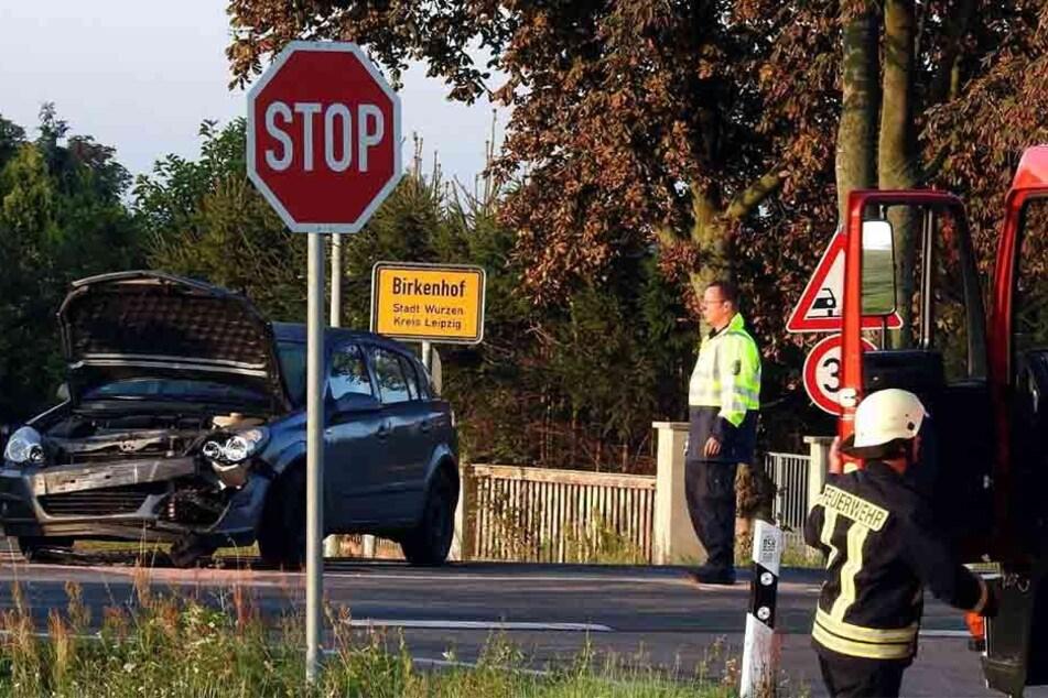 Auf der Kreuzung bei Birkenhof kam es zum Crash.