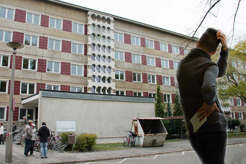 Ein Asylbewerber hat gleich für drei Polizeieinsätze gesorgt. Auch vor der Unterkunft an der Thomas-Müntzer-Straße.