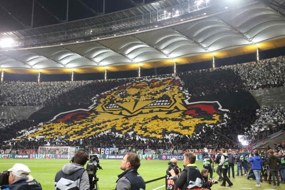 Gegen Lazio Rom lieferten die Eintracht-Fans eine sagenhafte Choreografie.