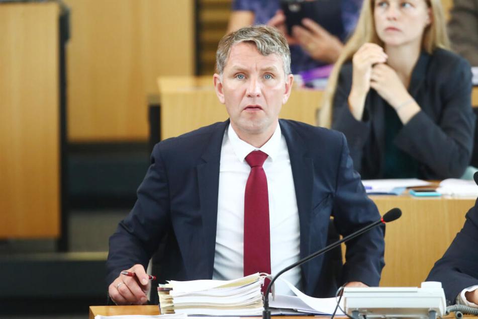 Björn Höcke bei einer Sitzung im Thüringer Landtag.