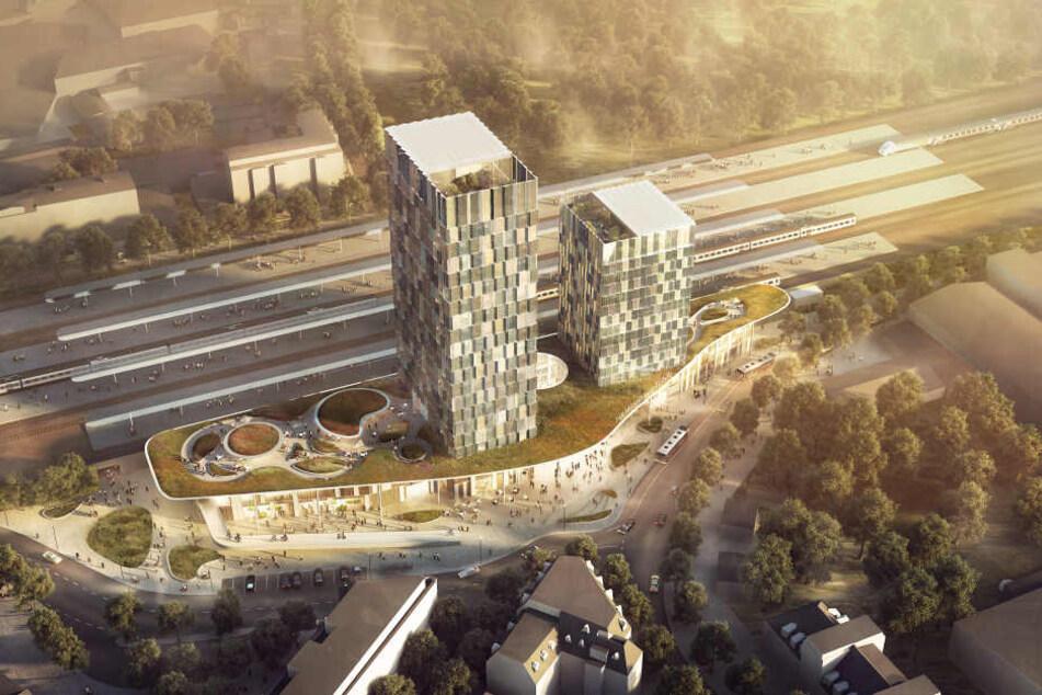 So soll der Bahnhof Altona nach der Fertigstellung aussehen. (Visualisierung).