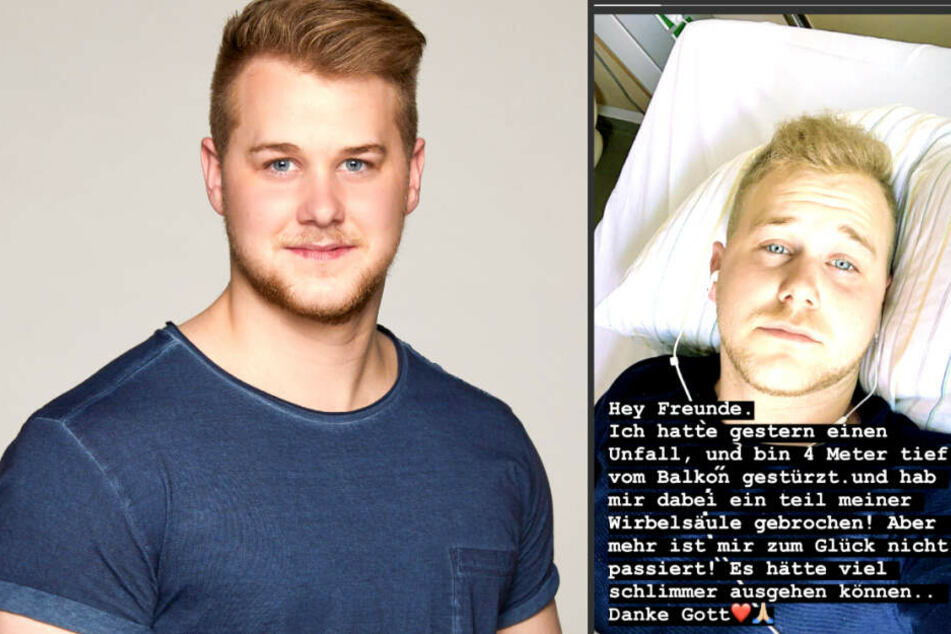 So meldete sich Felix van Deventer (23) nach seinem Unfall aus dem Krankenhaus bei seinen Fans - Schuld war der Schlüssel.