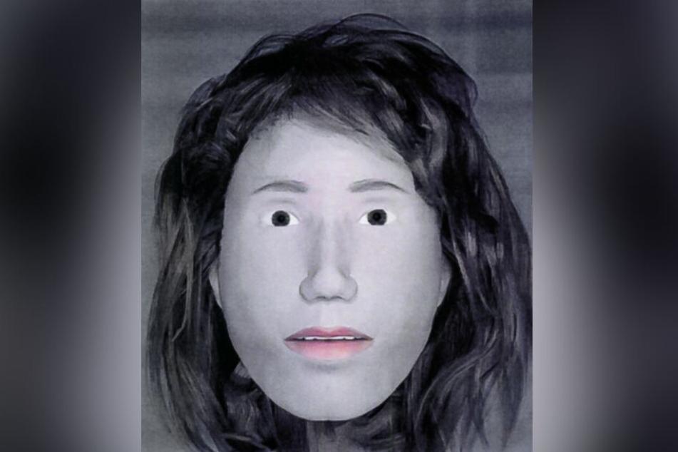 Eine Gesichtsweichteilrekonstruktion zeigt das mögliche Aussehen der noch immer unbekannten Toten.