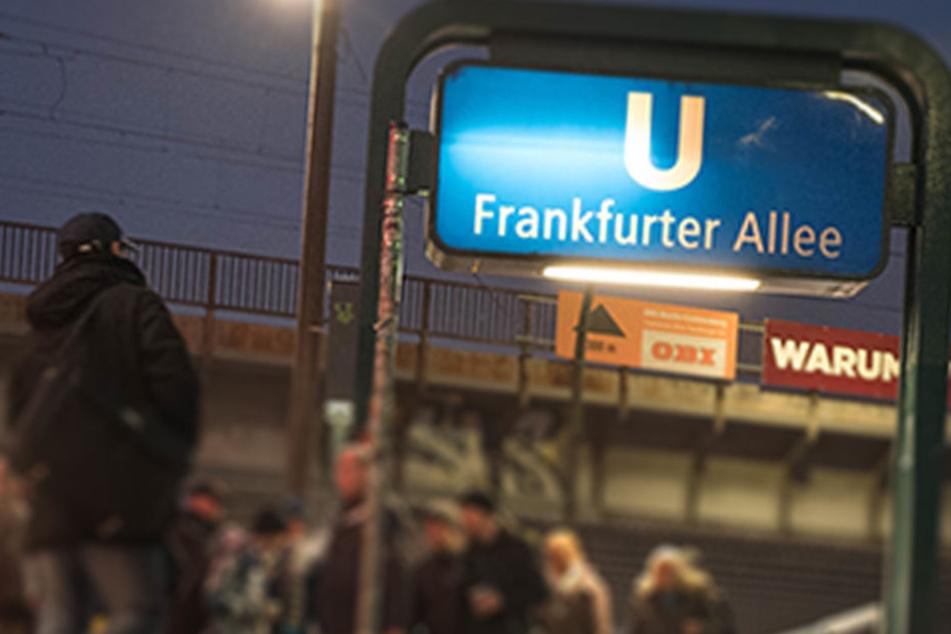 U-Bahnhof Frankfurter Allee in Friedrichshain.